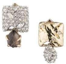 Alexis Bittar Earring Capsule 10K Gold-Plated& Crystal-Encrusted Mismatched Stud Earrings