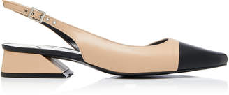 Yuul Yie M'O Exclusive Two-Tone Leather Slingback Pumps