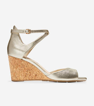 Cole Haan Sadie Open Toe Wedge Sandal (75mm)