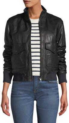 Rag & Bone Mila Zip-Front Leather Jacket