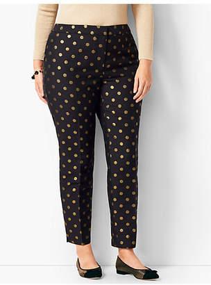 Talbots Hampshire Ankle Pants - Foil Dots