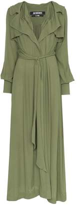 Jacquemus belted maxi dress