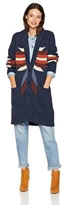 Pendleton Women's Indigo Woodblock Cardigan Sweater