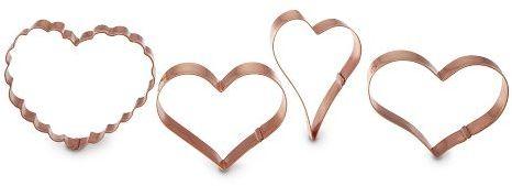 Copper Cookie Cutter Heart Set