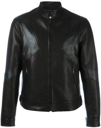Neil Barrett Geometric Panelled Leather Jacket