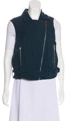 Elizabeth and James Notch-Lapel Zip-Up Vest