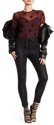 Romeo & Juliet Couture Lace-Up Faux Leather Pants