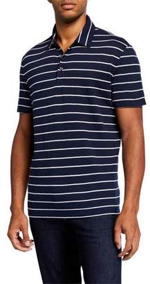 Michael Kors Men's Cozy Johnny-Collar Stripe Polo Shirt