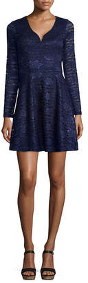 Trixxi Long Sleeve Party Dress-Juniors
