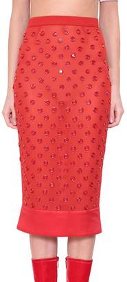 Givenchy Appliqué Silk Georgette Skirt