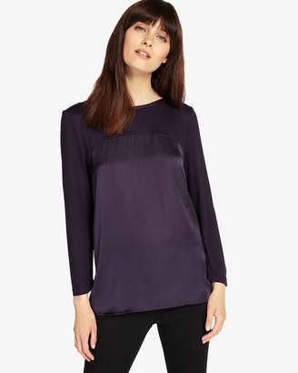 Phase Eight 3/4 Sleeve Sally Satin Top