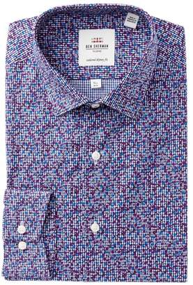 Ben Sherman Printed Gingham Skinny Fit Dress Shirt