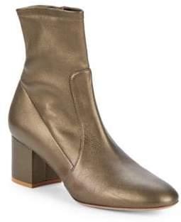 Valentino Metallic Leather Booties