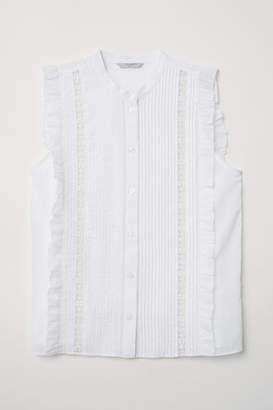 H&M Blouse with Pin-tucks - White