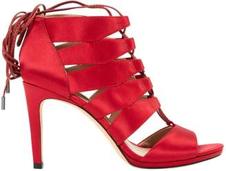 BCBGMAXAZRIA Red Leather Sandals