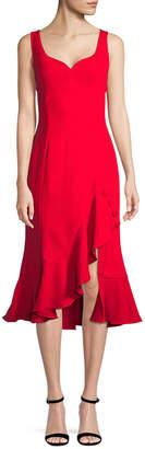 Prabal Gurung Ruffled Sweetheart Sheath Dress