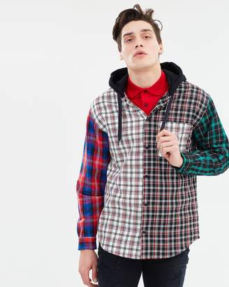 Tommy Hilfiger Lewis Hamilton Plaid Hooded Shirt