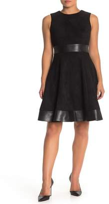 Modern American Designer Scuba Fit & Flare Dress