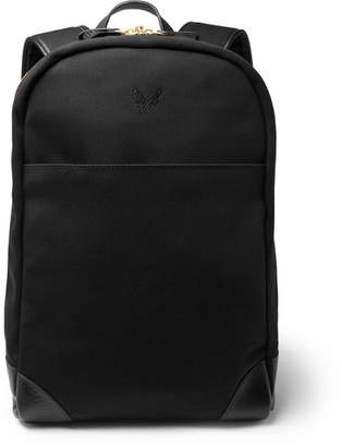 Bennett Winch Leather-Trimmed Cotton-Canvas Backpack