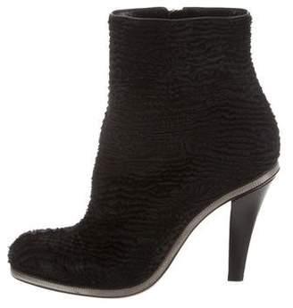 Giorgio Armani Ponyhair Chain-Link Boots