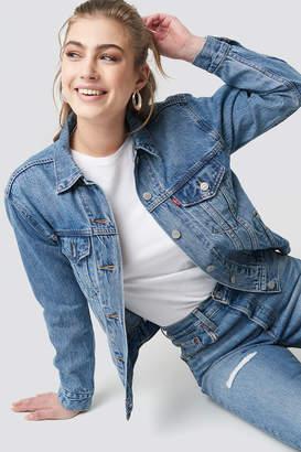 Levi's Ex Boyfriend Trucker Soft Jacket Med Indigo - Worn In