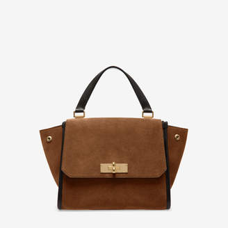 Bally Breeze Brown, Women's small calf leather top handle bag in cowboy