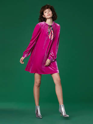 Diane von Furstenberg Velvet Mini Dress