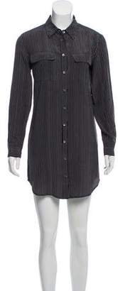 Equipment Striped Button-Up Shirtdress