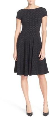 Women's Leota 'Circle' Jacquard Woven Jersey Dress $168 thestylecure.com