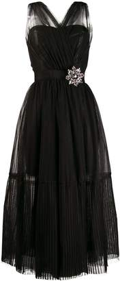 Pinko sleeveless tulle dress
