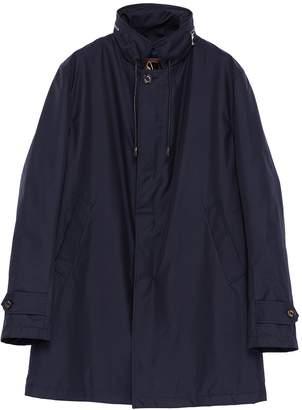 Sealup Retractable hood padded twill raincoat