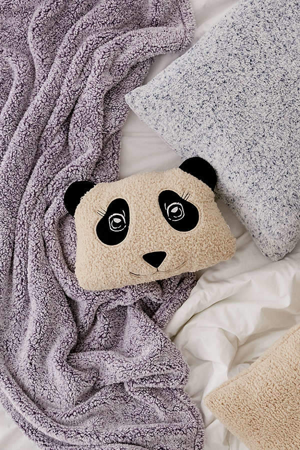 Panda Sherpa Throw Pillow