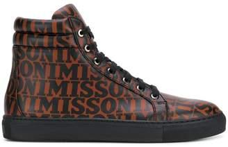 Missoni printed hi-top sneakers