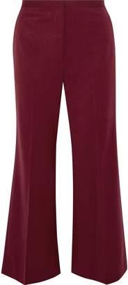 Rosetta Getty Cropped Wool-blend Twill Flared Pants