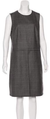 Akris Houndstooth Wool Dress Grey Houndstooth Wool Dress