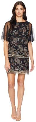 Adrianna Papell Paisley Embroidered Shift Women's Dress