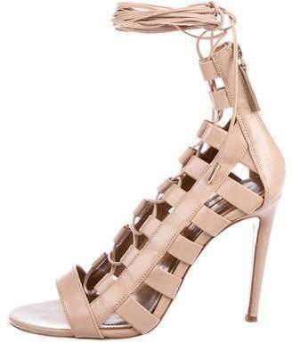 Aquazzura Amazon 105 Leather Sandals