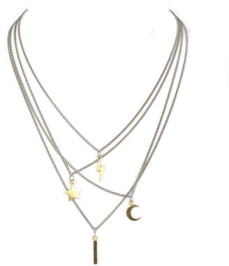Laura Cantu Jewelry Layered Multi Charm Necklace