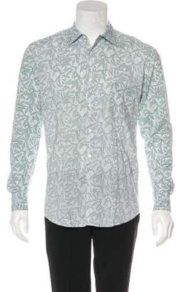 Billy Reid Leaf Print Button-Up Shirt