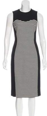Michael Kors Striped Midi Dress