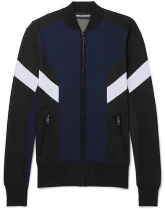 Neil Barrett Slim-Fit Colour-Block Tech-Jersey Track Jacket
