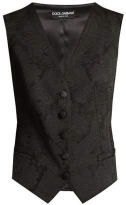 Dolce & Gabbana Buttoned Brocade Waistcoat - Womens - Black