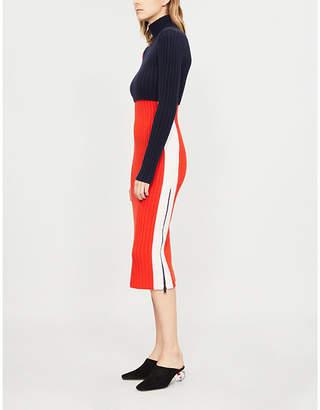 Sportmax Nadir colour-block cashmere-blend jumper dress