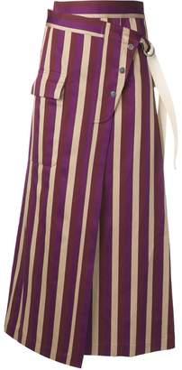 Golden Goose striped high-waisted skirt