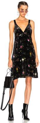 R 13 Velvet Mini Slip Dress