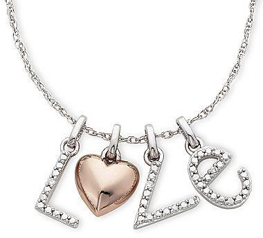 """JCPenney Diamond-Accent """"L-O-V-E"""" Pendant"""