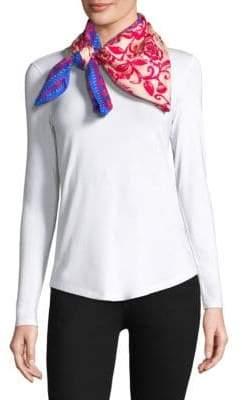 Bindya Silk Floral Embroidered Scarf