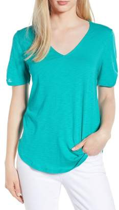Gibson x Hi Sugarplum! Anna Maria Twist Sleeve Tee (Regular & Petite) (Nordstrom Exclusive)