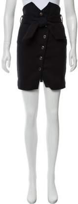 IRO Asymmetrical Knee-Length Skirt Black Asymmetrical Knee-Length Skirt