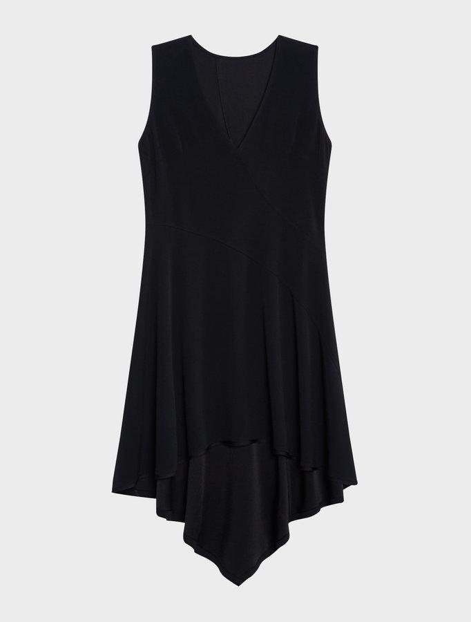 DKNYSleeveless V-Neck Step Hem Dress